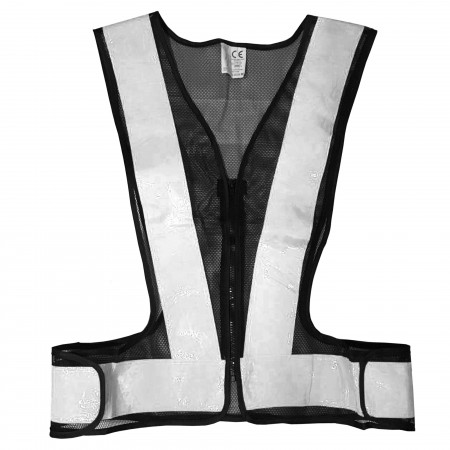 White reflective safety vest