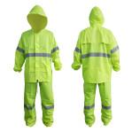 ชุดกันฝน เสื้อ กางเกง สีเขียว