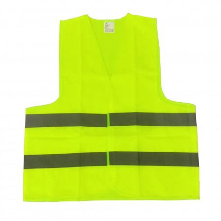 เสื้อกั๊กจราจรสะท้อนแสงสีเขียวมะนาว