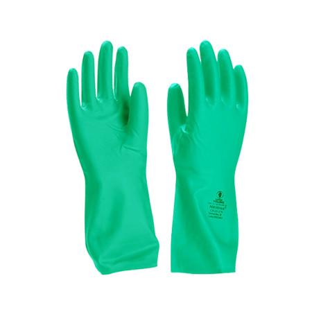 ถุงมือไนไตรสีเขียว