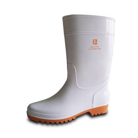 รองเท้าบูทยาง สีขาว