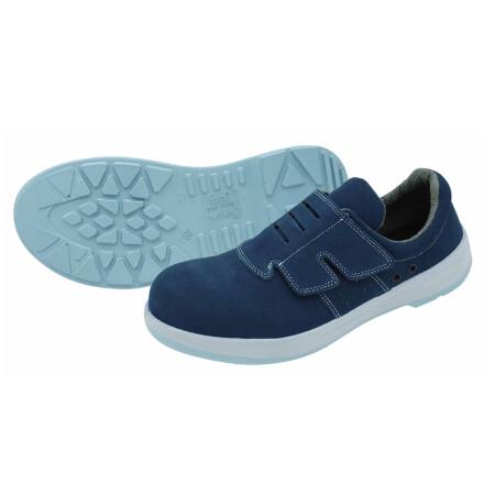 รองเท้าเซฟตี้ หนังกลับ สีฟ้า