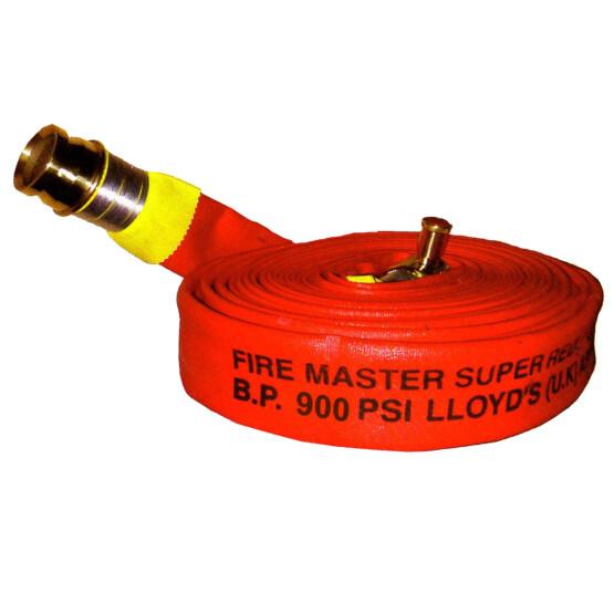 สายฉีดน้ำดับเพลิง ผ้าใบสีแดง FIRE MASTER