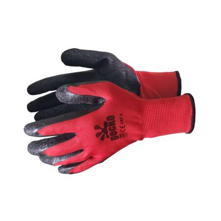 ถุงมือผ้า เคลือบยางธรรมชาติสีดำ