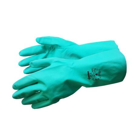 ถุงมือไนไตรสีเขียว Mallcom