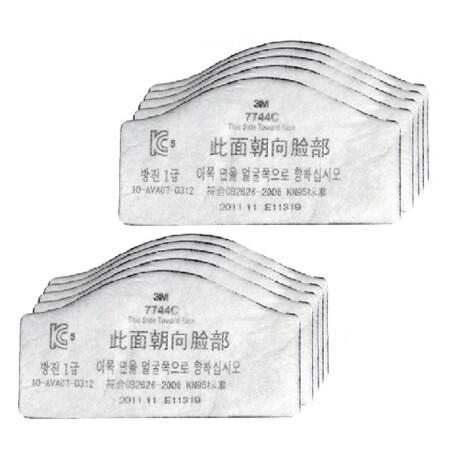 หน้ากากกรองฝุ่น ละออง ฟูมโลหะ 3M 7744C (10ชิ้น/แพ็ค)